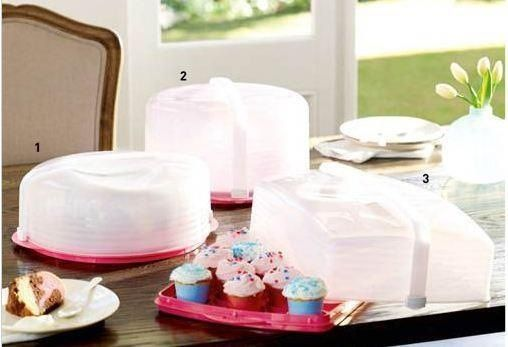 Tupperware Pink Cake takers