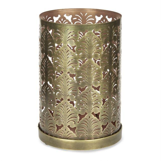 Красивый металлический подсвечник ALEXANDER CUTWORK HURRICANE 24*16 (Brass)
