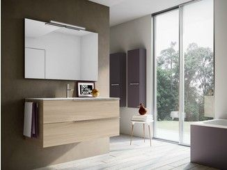 Double vanity unit with mirror MY TIME 13 - IdeaGroup