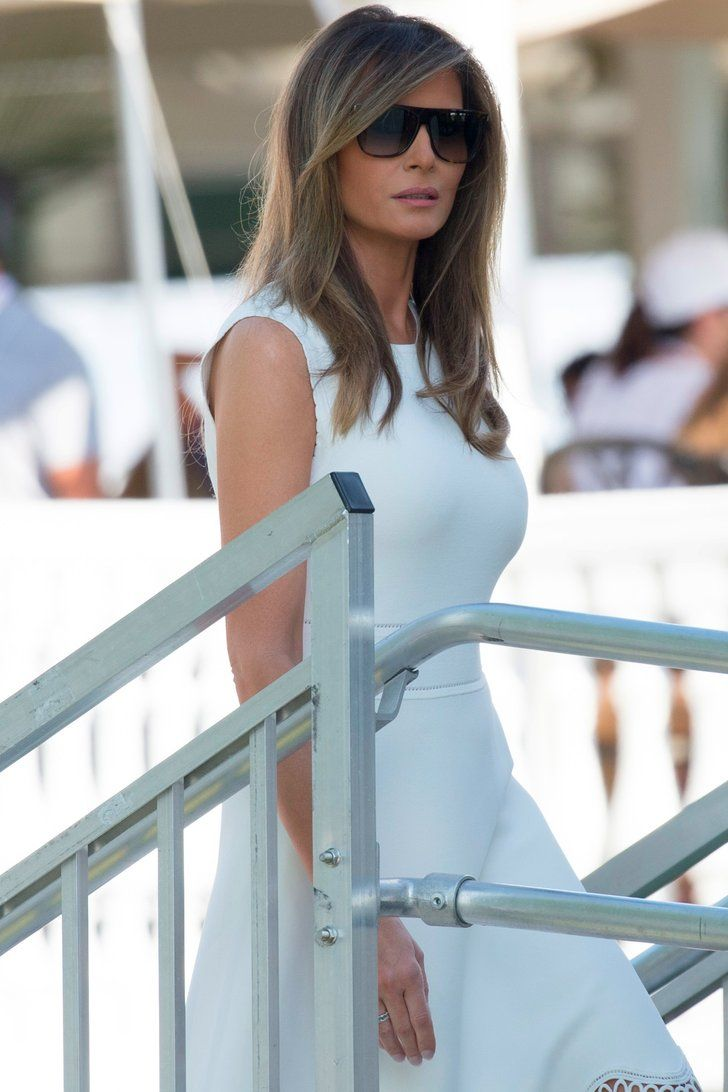 Melania trump chose this summer staple for the womens open golf championship