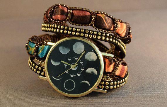 Leather Watch-Wrap Watch-Women's by Treasuregiftsandmore on Etsy