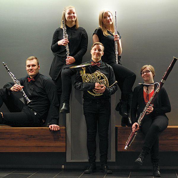 Riihimäen Kesäkonsertit 2017, High Five -puhallinkvintetti.