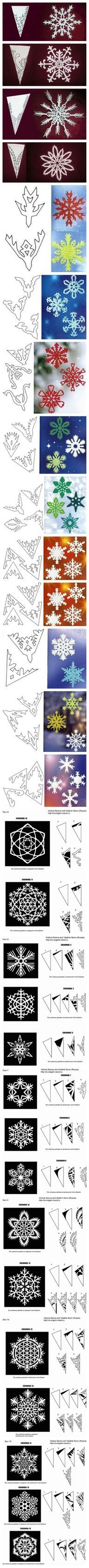 How to cut snowflake - http://craftideas.bitchinrants.com/how-to-cut-snowflake/