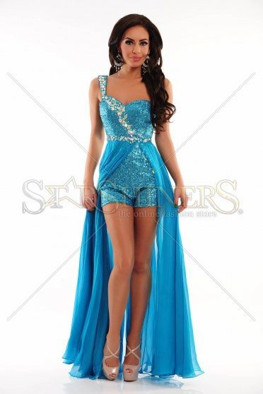 Sherri Hill 21056 Turquoise Dress