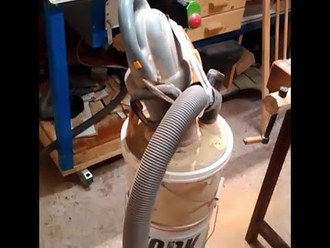 13-How to make a cheap cyclone dust collector / un aspirateur pas cher - YouTube
