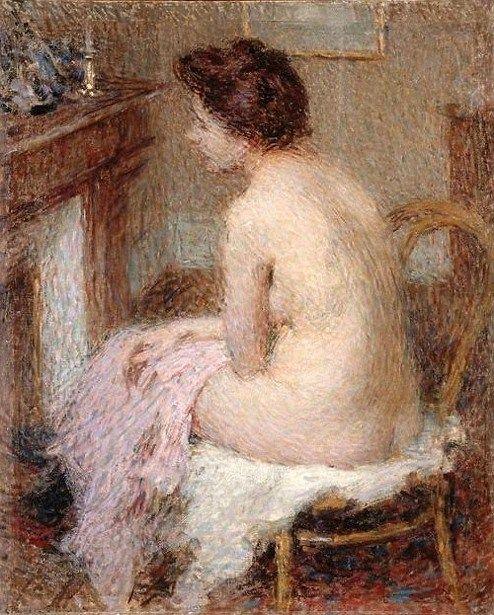 Femme se chauffant - Ernest Joseph Laurent (1859-1929) ______________________________ ♥♥♥ deniseweb.free.fr ♥♥♥