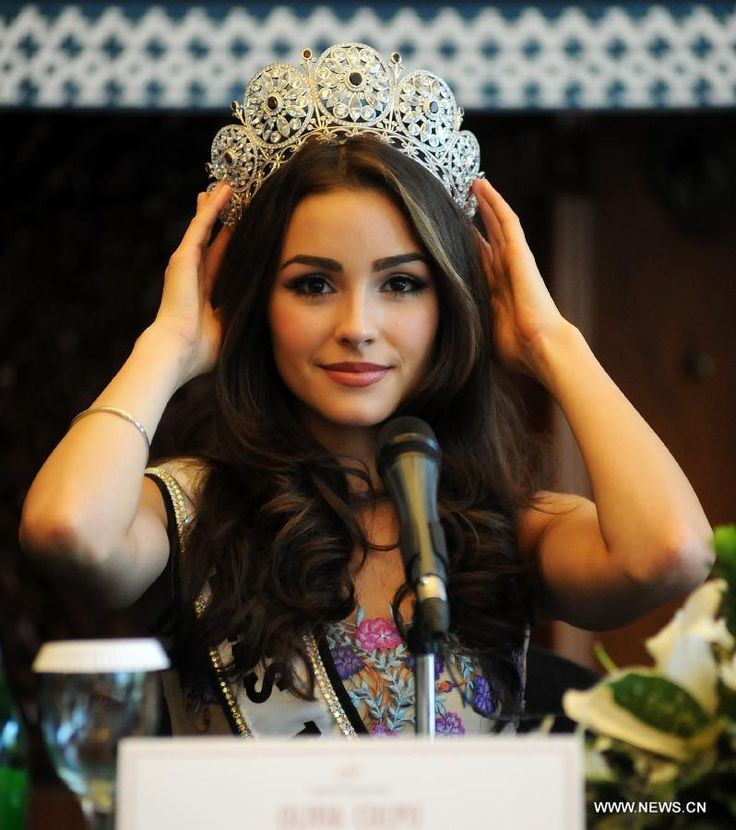 Olivia Beautiful Filipino Women | Miss Universe 2012 Olivia Culpo of the United States attends a press ...
