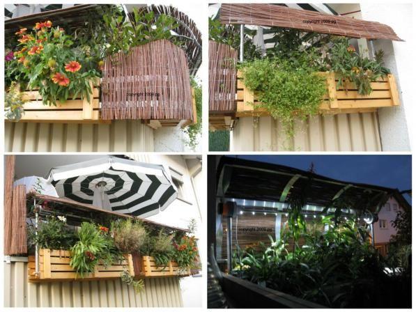 die obi selbstbauanleitungen balkon blumen balkon sichtschutz holz und selbstgemacht