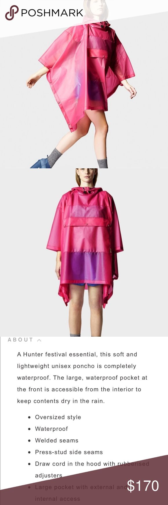 HUNTER ORIG CLEAR PONCHO BRIGHT CERISE NWT. HUNTER ORIG CLEAR PONCHO BRIGHT CERISE NWT. Oversized fit. MSRP $230 ❌NO TRADES 🔴OFFERS SHOULD BE MADE THROUGH POSH OFFER FEATURE 🔴PRICES NOT DISCUSSED IN COMMENTS  🔴FEEL FREE TO ASK ANY QUESTIONS Hunter Jackets & Coats