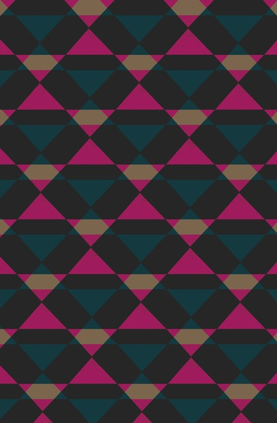 Retro Triangles - Blue & Pink by Georgiana Paraschiv