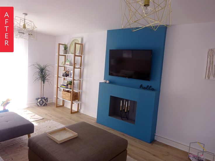 Before & After: A Bold Fireplace Brightens Up a Living Room