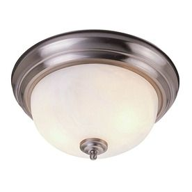 livex lighting 15in w brushed nickel ceiling flush mount