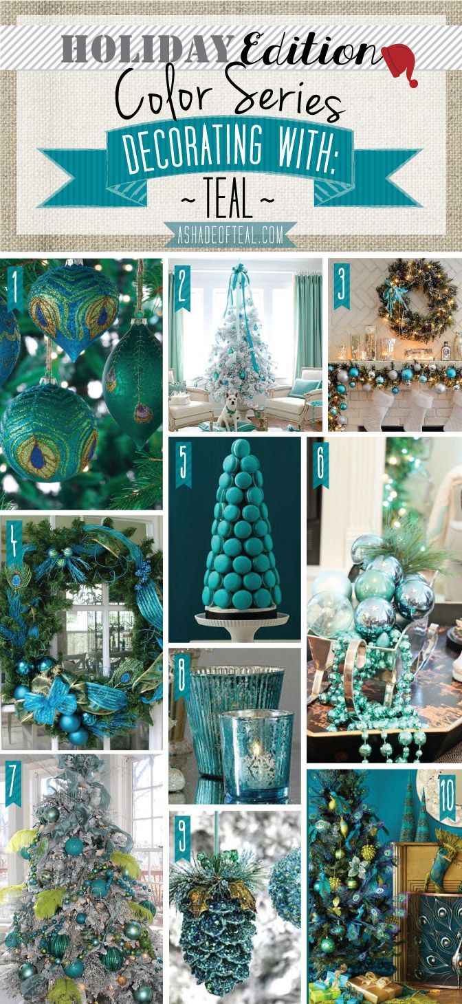 Blue green christmas tree decorations - Find This Pin And More On Teal Decor