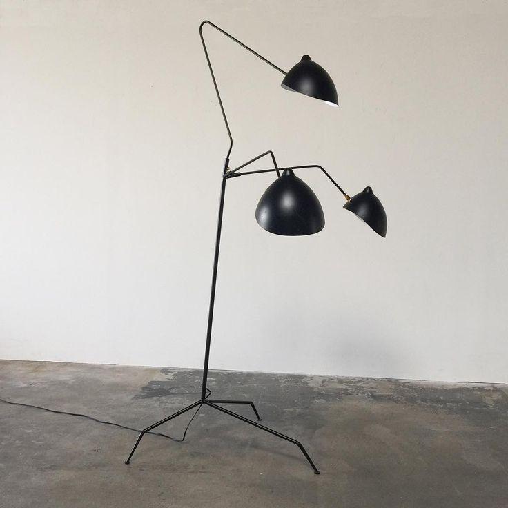 com serge mouille lighting serge mouille three arm floor lamp. Black Bedroom Furniture Sets. Home Design Ideas
