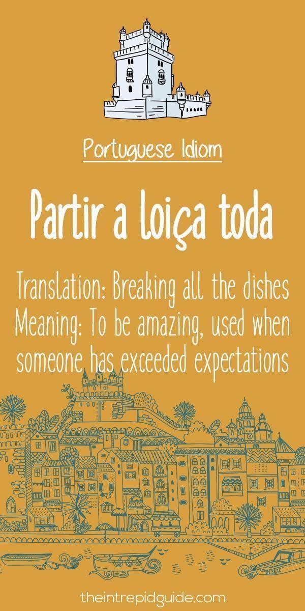 Portuguese phrases Partir a loica toda #portugueselessons #portugueselanguage