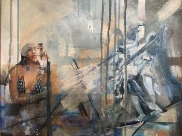 "Saatchi Art Artist Aria Dellcorta; Painting, ""Soul Rhythm"" #art #artist #painting #abstract #angel #woman #soul #artforsale #academicart"