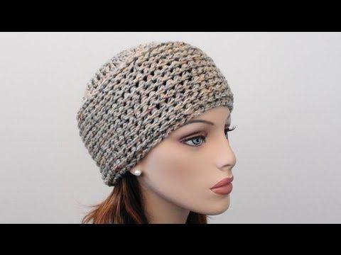 ▶ Crochet Beanie Hat - How to Crochet Beanie Hat - YouTube