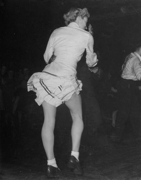 A jitterbug contest at the Paramount Dance Hall on Tottenham Court Road