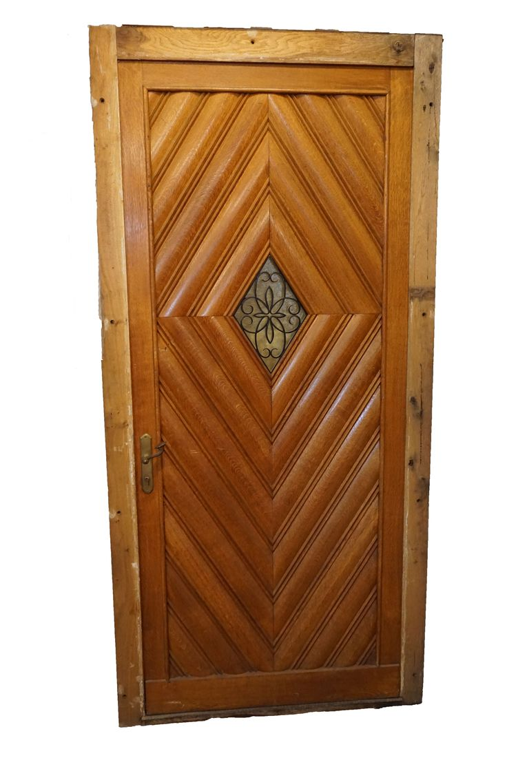 Hardwood Front Doors For Sale At Pittet Architecturals. Buy Single French Oak  Entry Door Carved In Optic Diamond Pattern, With Privacy Window That Open.