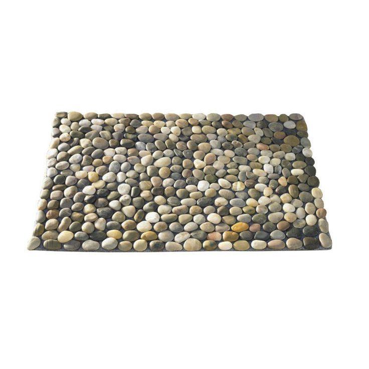 River stone mat diy pinterest lakes for River stone doormat