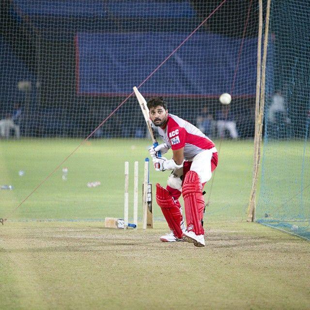 IPL Tweets » The Monk @mvj8 during the net practice in Pune. #KXIP | www.IPLTweets.com #IPLTweets #PepsiIPL