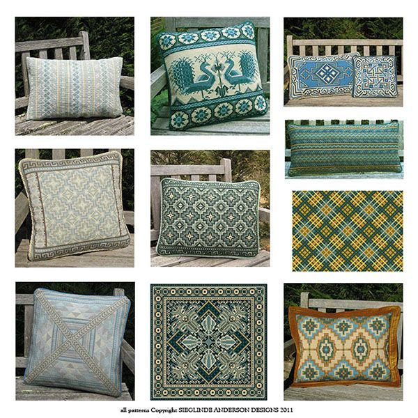 From sky blues to deep ocean teals - a collection of cross-point pillow kits to remind of glorious summer time....