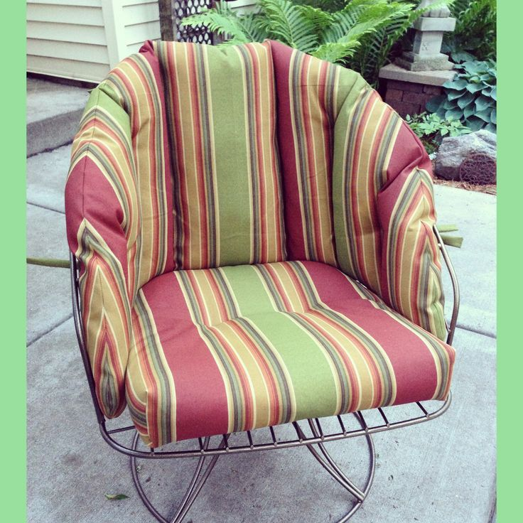 Our super cool vintage homecrest club chair that we had for Homecrest outdoor furniture