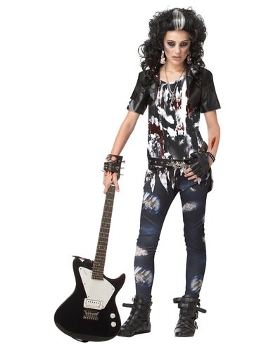 rocked out zombie tween costume from spirit halloween on catalog spree my personal digital mall - Popular Tween Halloween Costumes