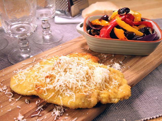 Parmesankyckling med rostade grönsaker (kock Paolo Roberto)