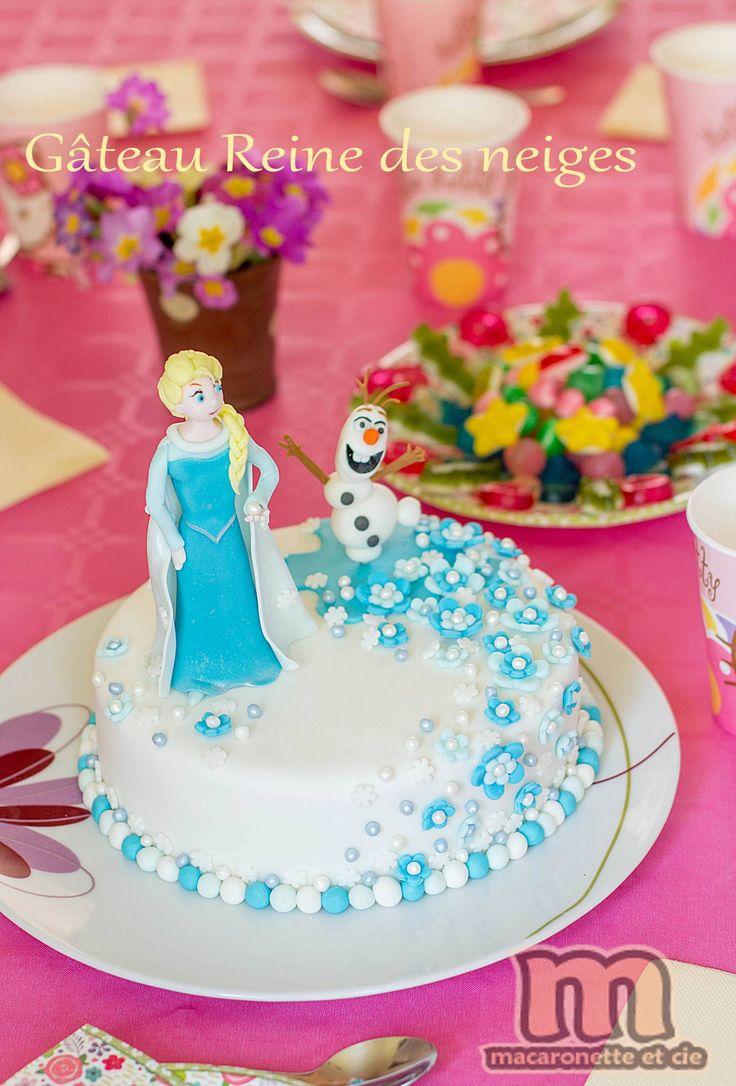 Gateau Reine des neiges - pas à pas ou presque - Macaronette et cie