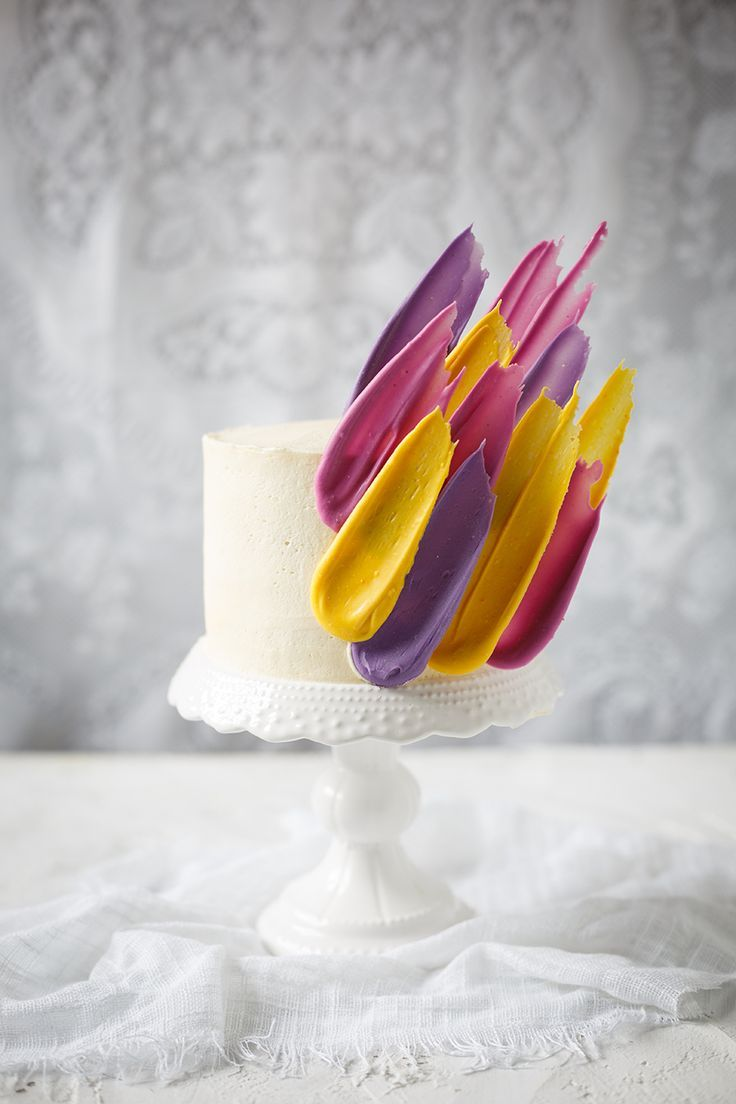 068b2be11eb53 Brushstroke Cake | THE KATE TIN | RECIPES | Brushstroke cake, Cake ...