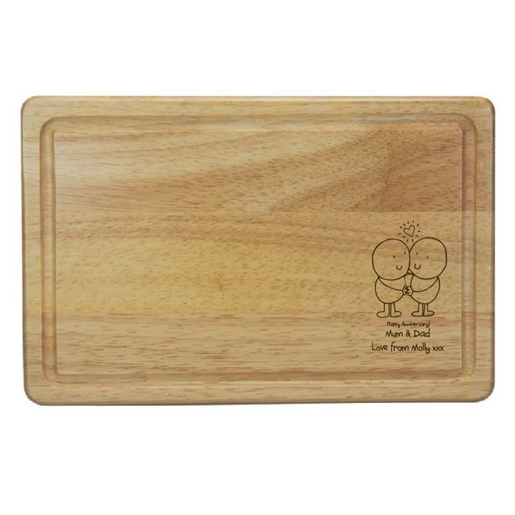 PERSONALISED ANNIVERSARY GIFT - WOODEN CHOPPING BOARD - 5TH ANNIVERSARY GIFT