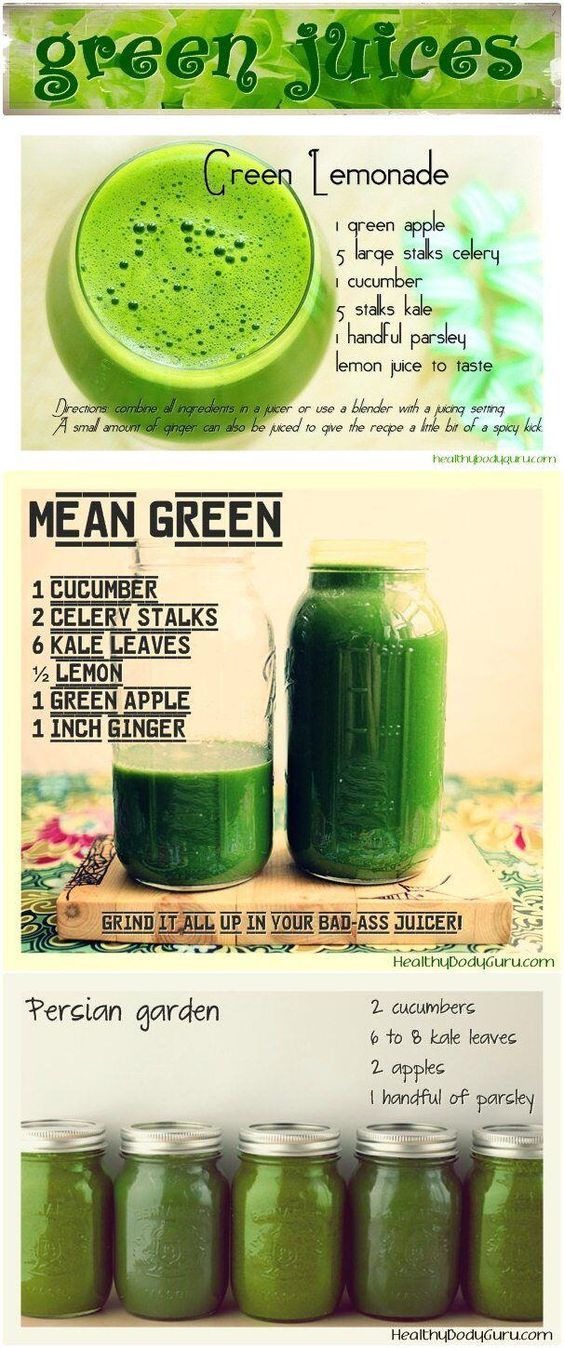 3 day green juice cleanse featuring Green Lemonade, Mean Green and Persian garden