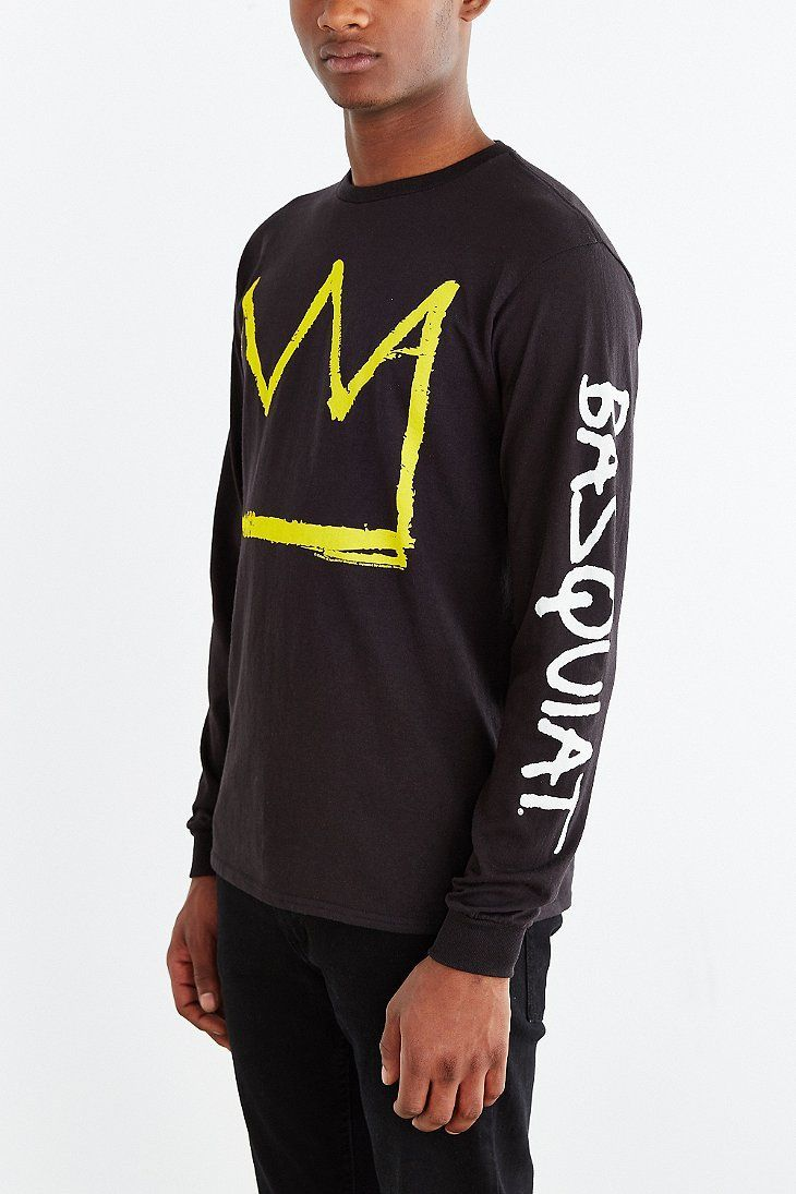 Junk Food X Basquiat Crown Long-Sleeve Tee - Urban Outfitters