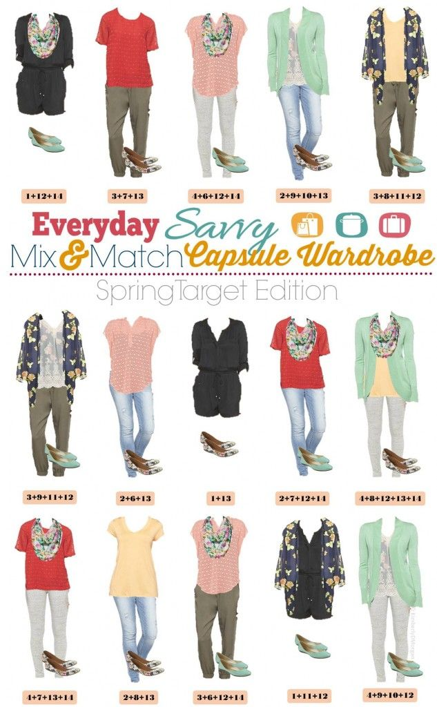 Spring Capsule Wardrobe from Target - Mix and Match Outfits that are fun and frugal!