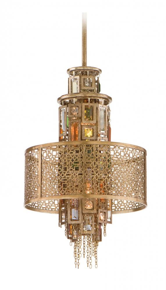 and product light pendant lighting ambrosia silver leaf gold corbett ceiling inch