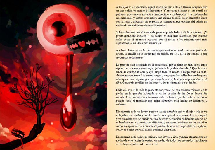 """Pagina de facebook de """"El Santuario que Arde"""" de Hernán Ergueta #hernanergueta #ilustracion #cuentos"""