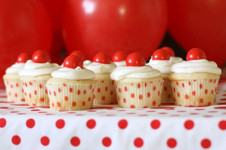 Red Ball Party...or RED NOSE Party. This birthday party has some great #RedNoseDay ideas including garlands, cupcakes, and decorations that your guests will love. Visit rednoseday.org to learn how your event can help children in need. | Red Nose Day USA