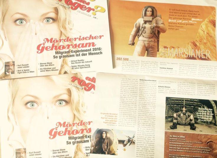 """""""ALLES ROGER"""" Ausgabe Juni2016 -Das Querformat für Querdenker- hier geht es direkt zur online Ausgabe http://www.allesroger.at/der-marsianer"""