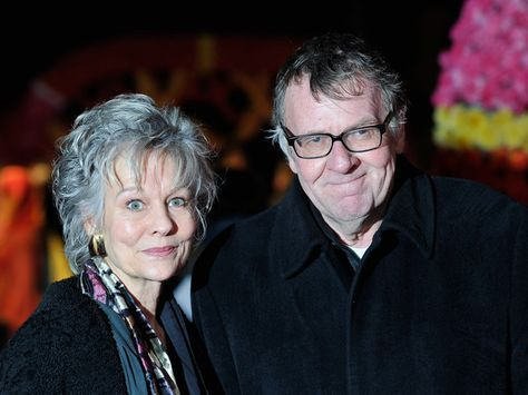 Tom Wilkinson and his beautiful  wife Diana Hardcastle co-starred in 'The Best Exotic Marigold Hotel' as well as in A Good Woman.