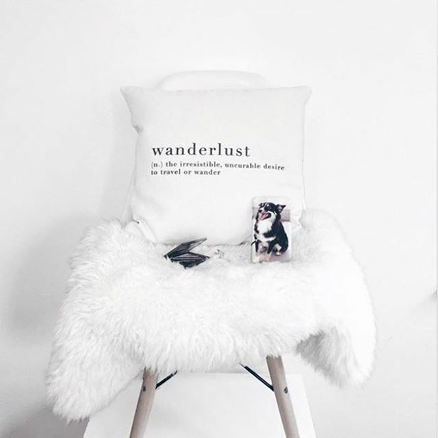 What does wanderlust mean?  Designed pillowcase makes your house look simple and classy.