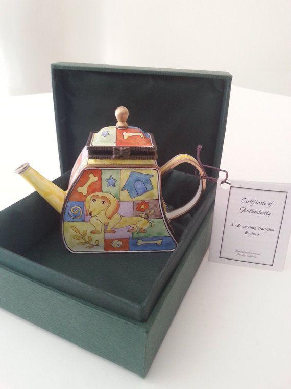 Kelvin Chen Miniature Teapot Daschund U0027A Puppyu0027s Mind Vintage