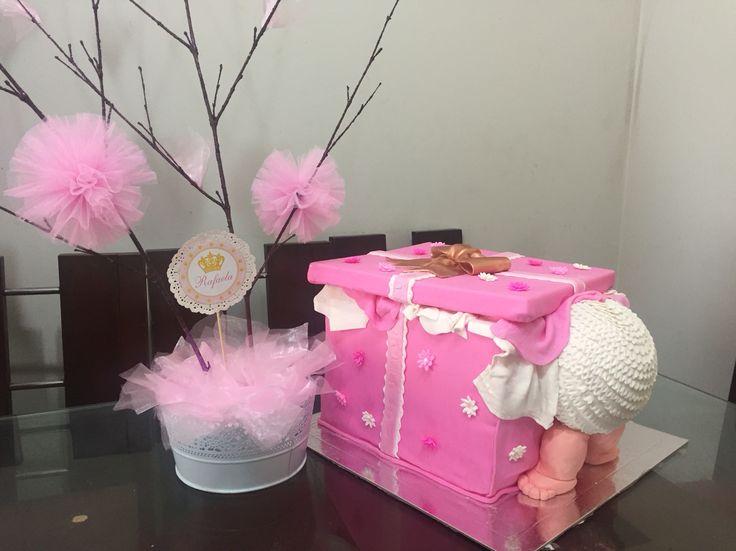 Torta Baby Shower Niña. Baby Shower Cake