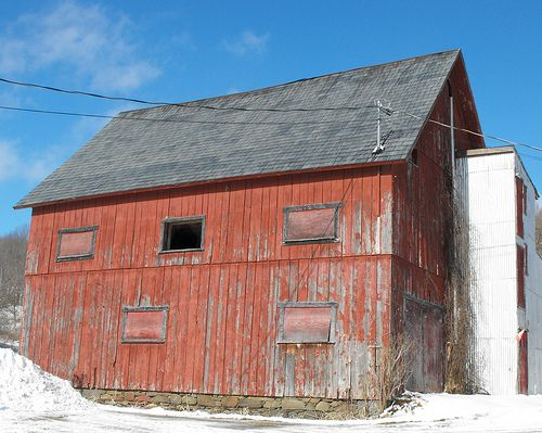 Old barn in Eastern Townships...most were built so well...they had no nails..all wood locked together!