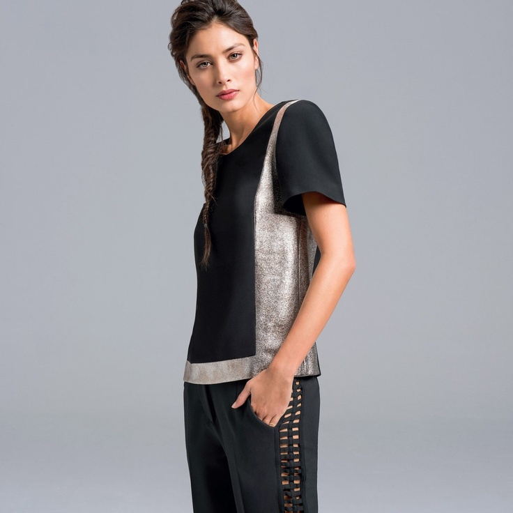 Bluza dama marca Gat Rimon - pe doua combinatii de culori. Cititi tot articolul click ==>> http://thankyou.ws/ce-se-poarta-in-primavara-vara-2013-moda-franceza