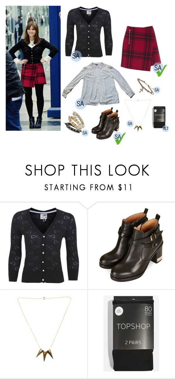 """Clara Oswald - Deep Breath"" by brofeysons ❤ liked on Polyvore featuring Yumi, Topshop and mark."
