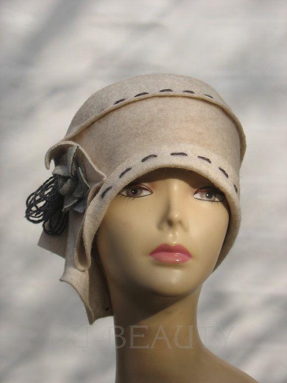 Cloche Hat Designer Handmade hat Felted Hats Fashion accessory winter art womens beanie hat womens accessory beanie  Gift For Her Cloche Hat