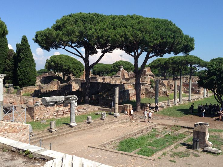 Ostia Antica is a large archeological site, close to the modern suburb of Ostia, that was the location of the harbour city of ancient Rome, which is approximately 30 kilometres (19 miles) to the northeast.