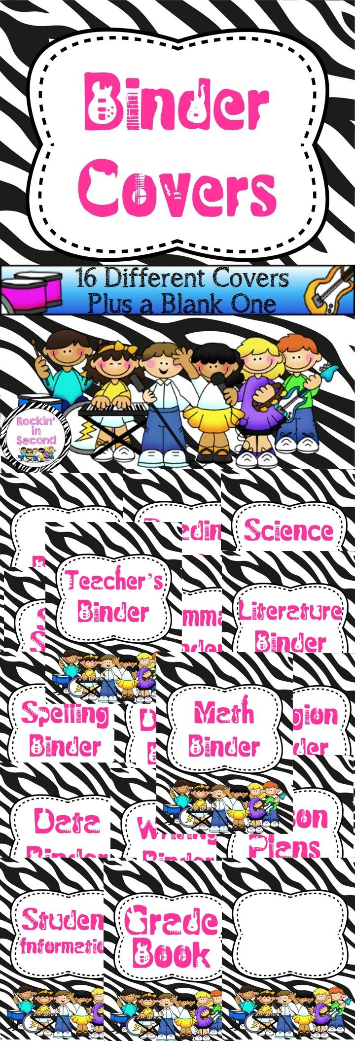 124 best classroom organization management images on pinterest classroom organization for Reading binder cover