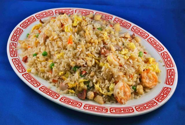 A standard of Chinese cuisine, fried rice can be made with meat or seafood and a wide assortment of vegetables.